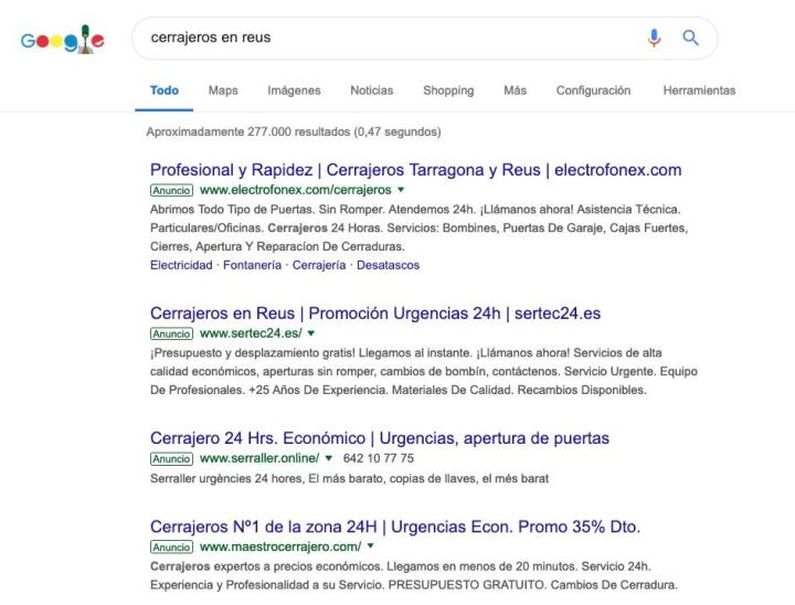 Relevancia en anuncios Google Ads