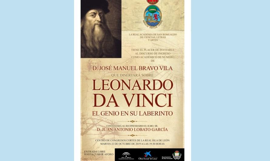 D. José Manuel Bravo Vila ingresará en la Academia el 22 de octubre con un discurso sobre Leonardo da Vinci