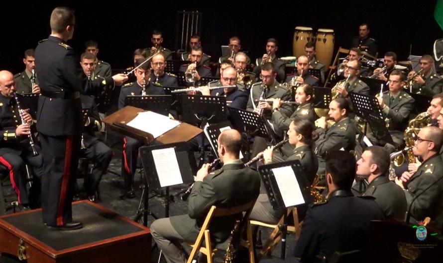 La música interpretada por la banda del Tercio del Sur se hace protagonista en la Academia el día de Santa Cecilia