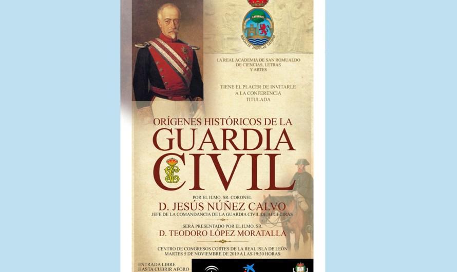 El jefe de la Comandancia de la Guardia Civil de Algeciras hablará este martes sobre el origen de la Benemérita