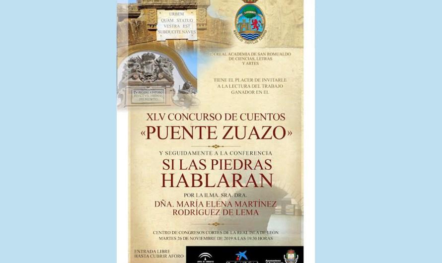 Lectura del cuento ganador del XLV Concurso 'Puente Zuazo' y conferencia de Dª María Elena Martínez Rodríguez de Lema
