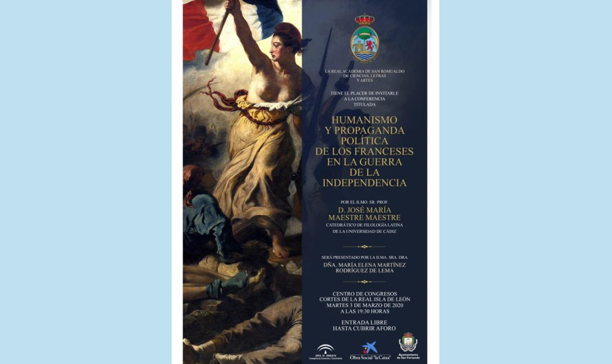 'Humanismo y propaganda política de los franceses en la Guerra de la Independencia' el martes 3 de marzo