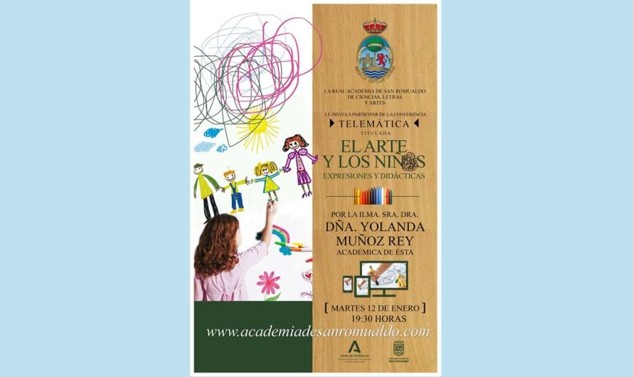Dª Yolanda Muñoz Rey expone, el martes 12 de enero, la conferencia 'El arte y los niños. Expresiones y didácticas'