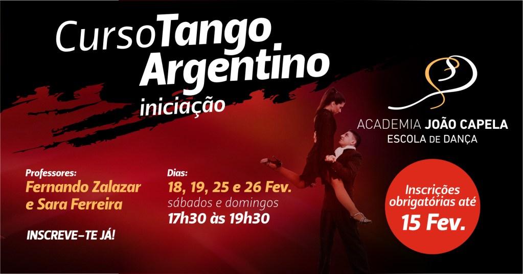 Curso Tango Argentino Iniciação em Barcelos Fevereiro 2017