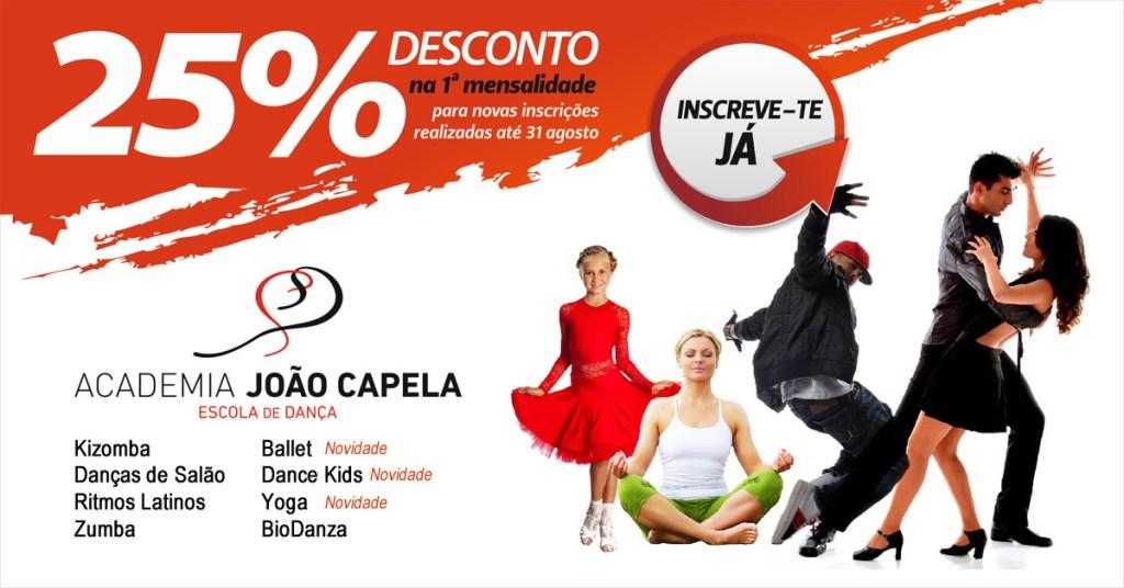 25% de Desconto nas Aulas de Dança da Academia João Capela