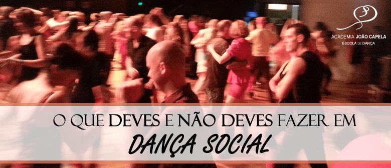 O que Deves e não deves fazer em Dança Social