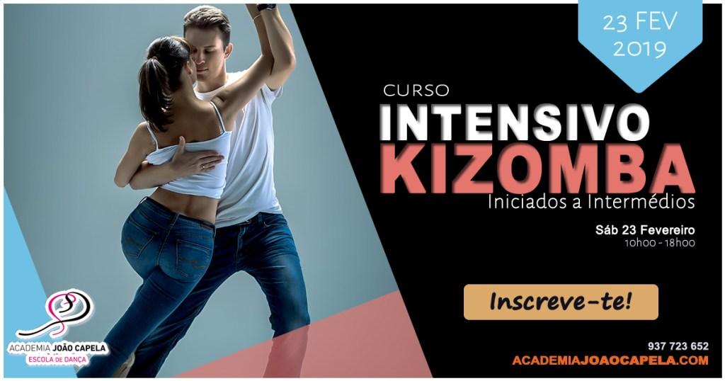 Curso Intensivo Kizomba Iniciados a Intermédios Barcelos23 Fev 2019