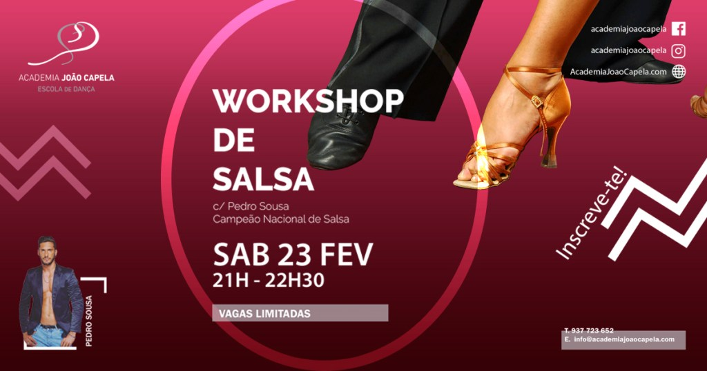 Workshop de Salsa em Barcelos com Pedro Sousa Campeão Europeu de Salsa