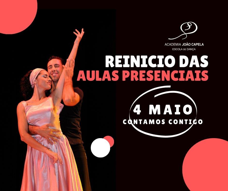 Reinicio das Aulas de Dança Presenciais na Academia João Capela