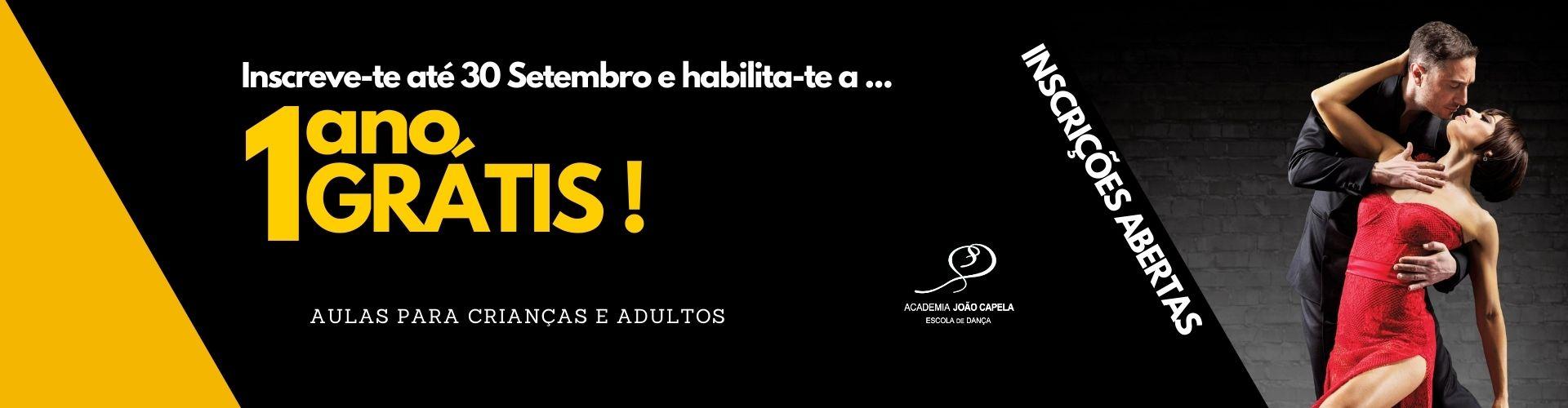 Sorteio 1 Ano Grátis na Academia João Capela - Banner
