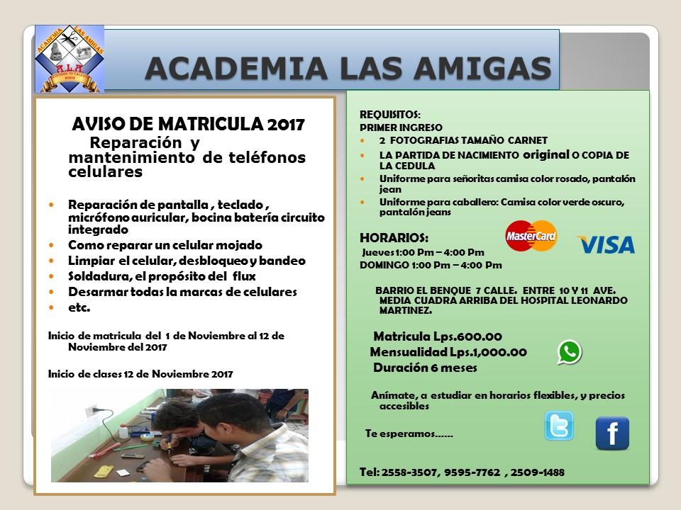 ANUNCIO DE MATRICULA reparacion de celulares17