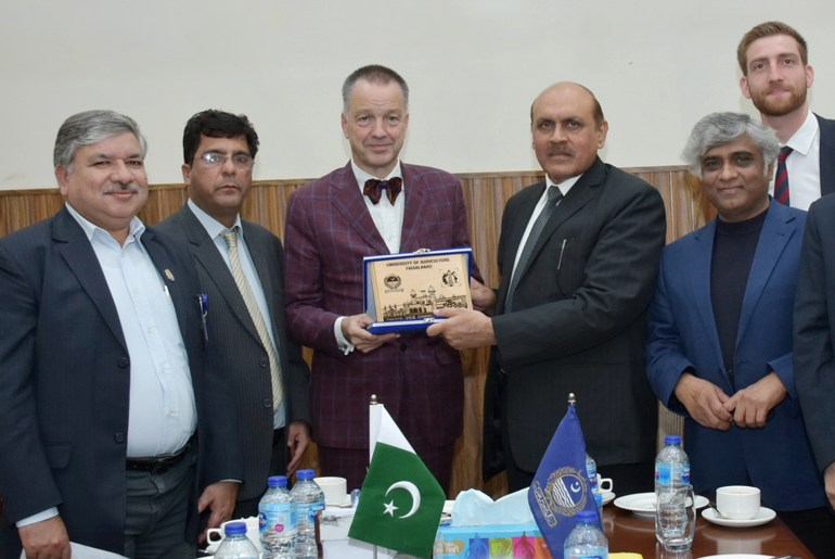 German Ambassador Visits University of Agriculture Faisalabad