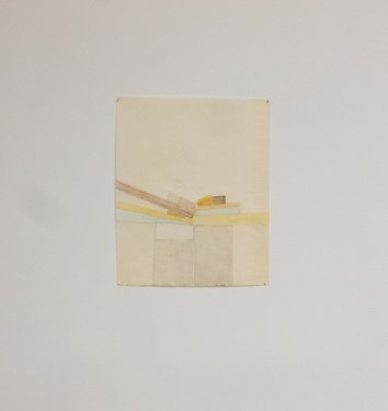 Beka Goedde, Prism on 2x4, 2012, pencil and acrylic on paper, 16-1/2 x 13 in