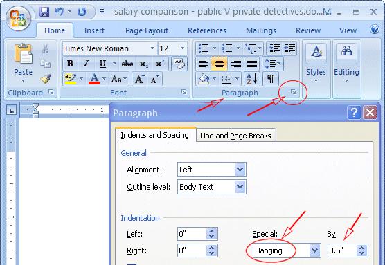 mla format on microsoft word 2010