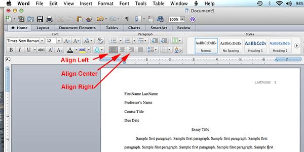 mla format word mac