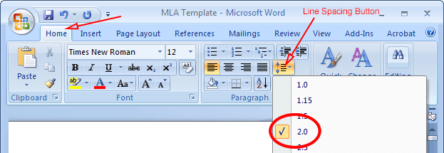 how to type in mla format on microsoft word