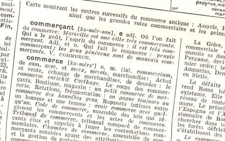 commerce dictionnaire