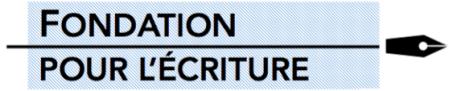 logo fondation pour l'écriture