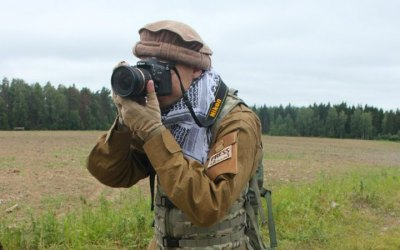 Фотограф на военно-тактической игре