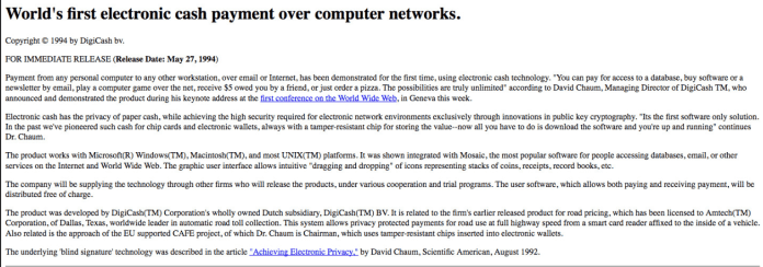 Eric Hughes welcome to Cypherpunk Mailing List