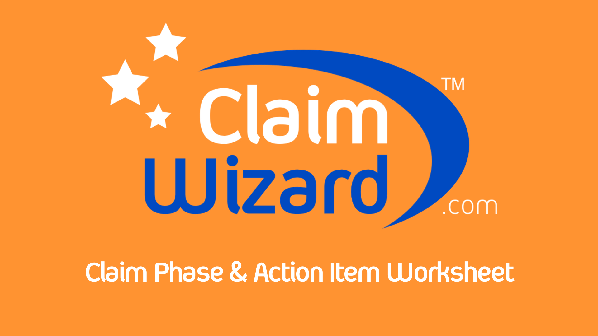 Claim Phase Amp Action Item Worksheet