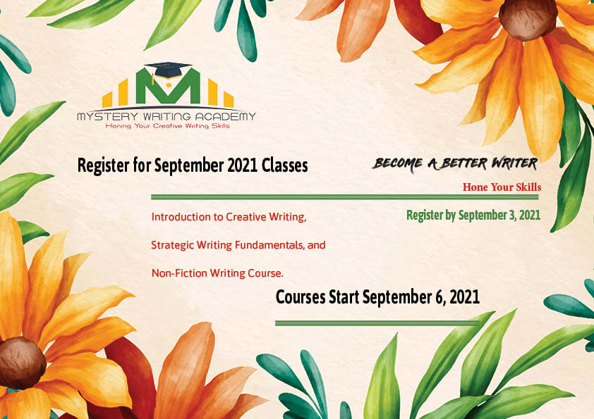 Register for September 2021 Writing Courses