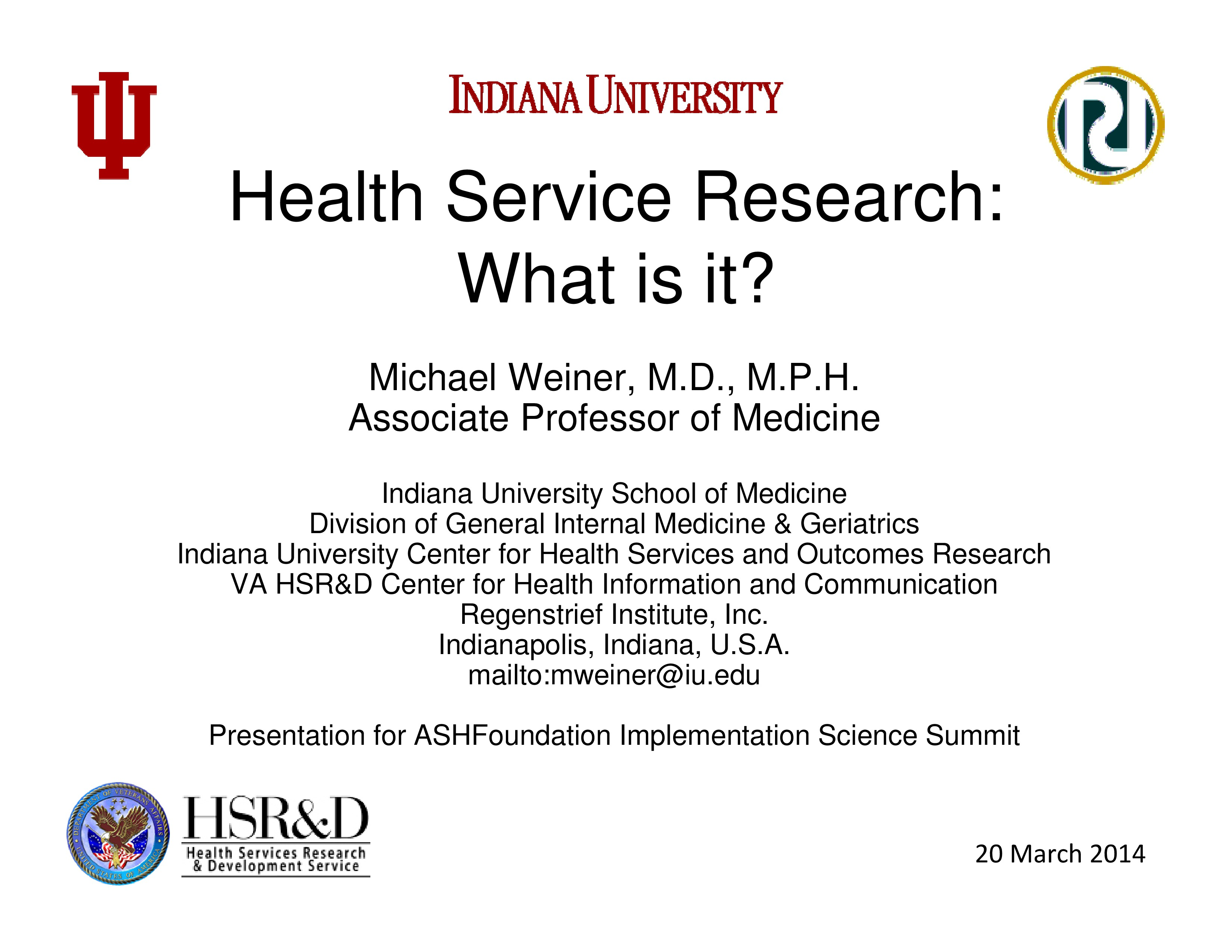 Health Service Research: What Is It? | ASHA Journals Academy