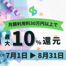 売上金の一部を期間限定で最大10%還元!「売上金還元キャンペーン」のおしらせ
