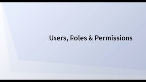 Users, Roles, Permissions & Teams
