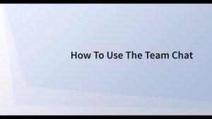 Using Team Chat in SWELLEnterprise