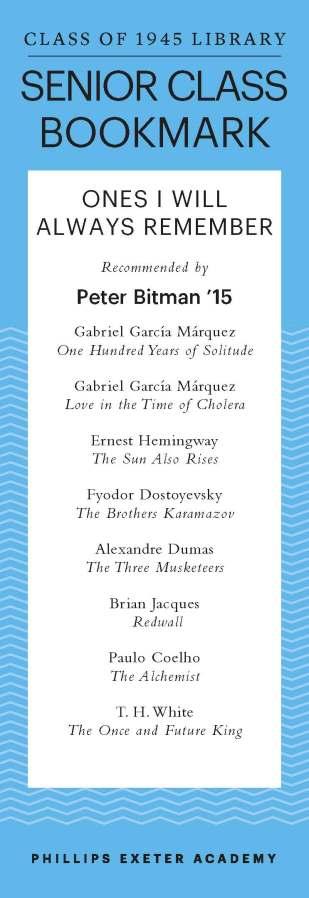 Peter Bitman '15