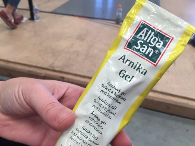A magic solution for fencing bruises - Arnika Gel