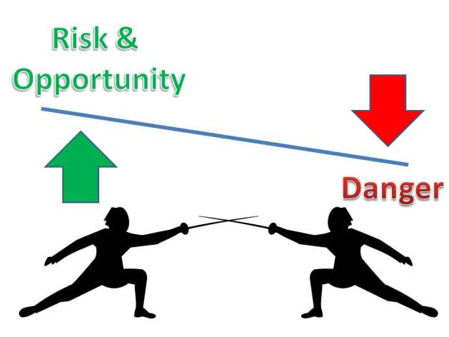 Opportunity and risk vs danger in fencing