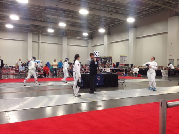 Weapon check during the fencing bout