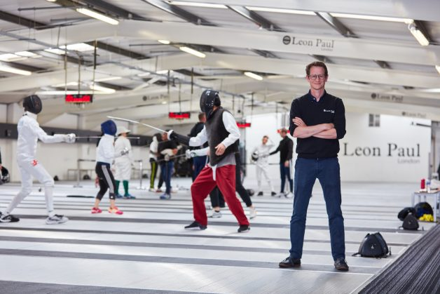 Ben Paul in Leon Paul Fencing Club in London UK
