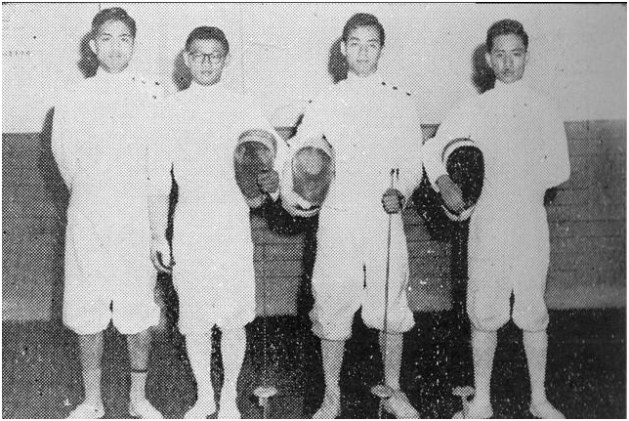 Peter Lee is the third from the left. Image: The Bruce Lee Foundation