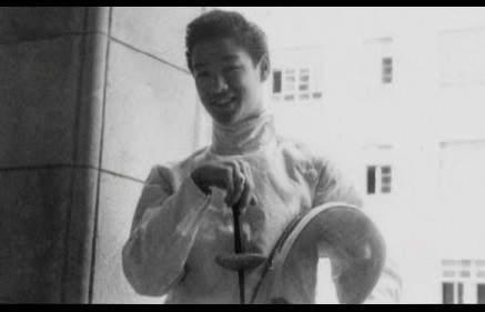 Peter Lee in his fencing gear  Image: The Bruce Lee