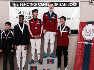 Bay Area Regional Youth Circuit (RYC) (Region 4)  Y14 Men's Epee - AFM fencers swept the podium
