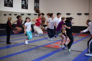 Physical Conditioning Training for Fencers - group jump rope exercise