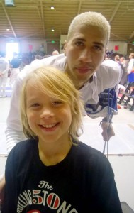 Picures with famous fencers during National Competitions