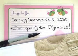 Setting fencing Competition Goals