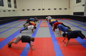cross-training for fencing - exercise staying long in plank position