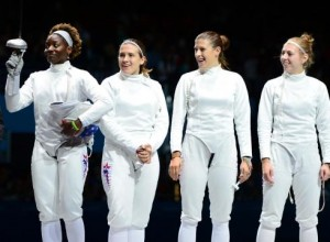 Womens Olympic team epee London - US Women's Epee Team won Bronze medal