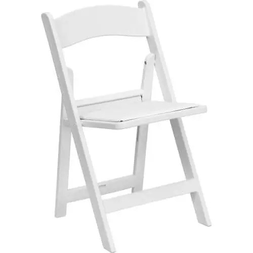 Padded Garden Chair Rental - White