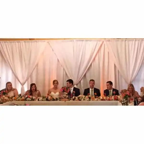 10 Ft White Two Tier Drape Academy Rental Group