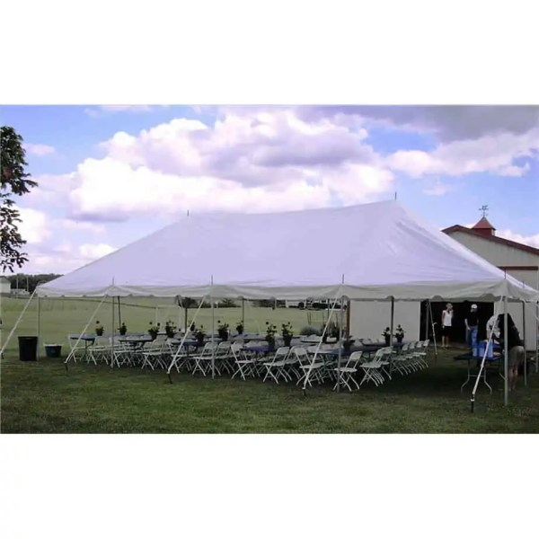 64 guest pole tent package