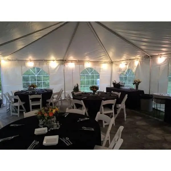 132 inch round table linen rental