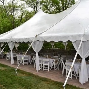 Tent Pole Drapes and Covers