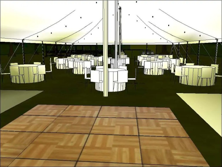 Customer Wedding Tent Rental Layout Cincinnati