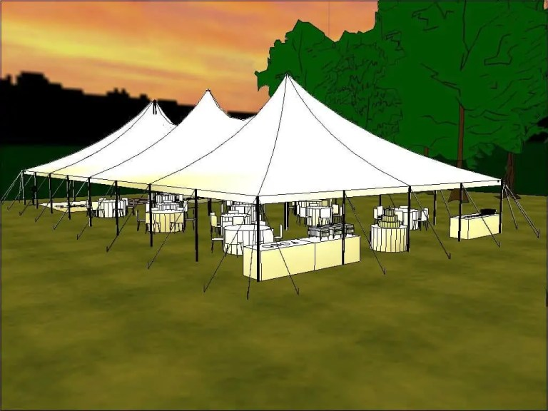 Wedding Tent Rental Layout Cincinnati